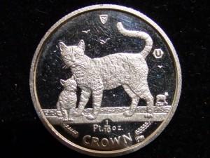 Pt1000 マン島キャットコイン 110Oz 2002年
