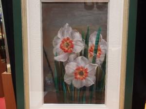 ユージン・フェドロフ 油絵「紅の水仙」
