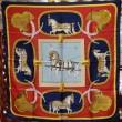 エルメス カレ90 シルクスカーフ 『グランドアパート 盛装の馬』 赤