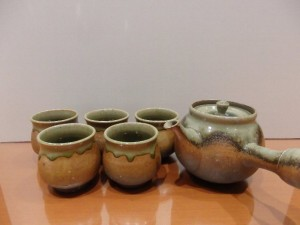 柴田増三 灰釉焼〆茶器