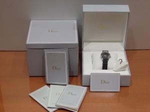 ディオール クリスタル ブラック レディース時計 ダイヤベゼル 112116R001CD112116