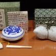 未使用品 上海西 印社 清花光明印泥 + 瓢箪型水滴